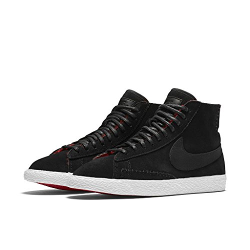 Nike BLAZER MID PRM womens basketball-shoes 403729-007_7.5 - BLACK/BLACK-ACTION RED-SUMMIT (Action Black And White)