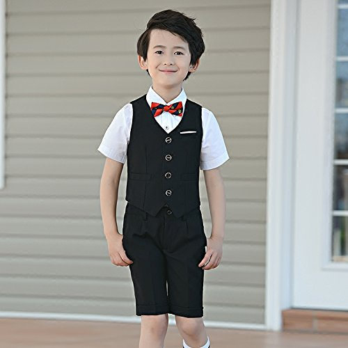 Michealboy Baby Boy Slim Fit Outfits Set 2pcs Gentleman Vest Coat /& Short Pants