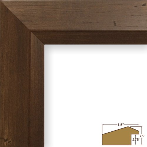 Craig Frames 17060 11 by 14-Inch Picture Frame, Smooth Wood Grain Finish, 1.5-Inch Wide, Mocha Walnut Brown