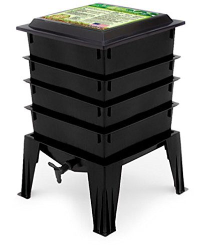 black compost bin by Worm Factory