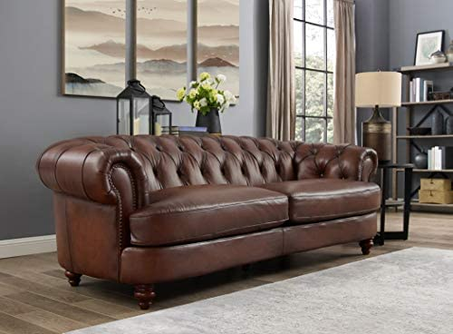 Hydeline Newport 100 Leather Sofa, Brown