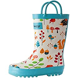 Oakiwear Kids Rubber Rain Boots (10 US Toddler, Forest Animals)