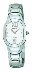 Seiko Vivace - Reloj analógico de mujer de cuarzo con correa de acero inoxidable plateada