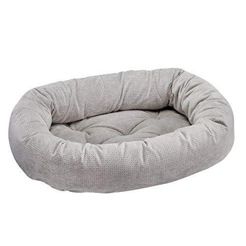Bowsers Donut Bed, Medium, Silver Treats