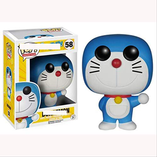 ZJWA Funko Pop Doraemon Hand Office Aberdeen Decoracion Modelo Ding Dong Cat Doraemon Small Ding Dong 58 # Figura Coleccionable de Doraemon, Multicolor