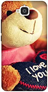 The Racoon Grip teddy loves you hard plastic printed back case / cover for Huawei Honor Holly 2 Plus