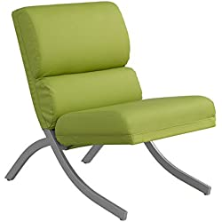 Contemporary/Modern Unique Faux,Bonded Leather Foam Chair (Lime)