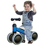 Ancaixin Baby Balance Bikes Bicycle Children Walker 10 Month -24 Months Toys for 1 Year Old No Pedal Infant 4 Wheels Toddler First Birthday New Year Gift