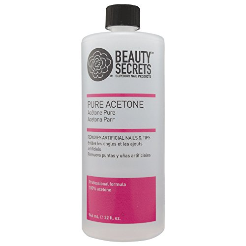 Beauty Secrets Manicurist Solvent Pure Acetone Nail Polish Remover, 32oz (Super Nail Pure Acetone)