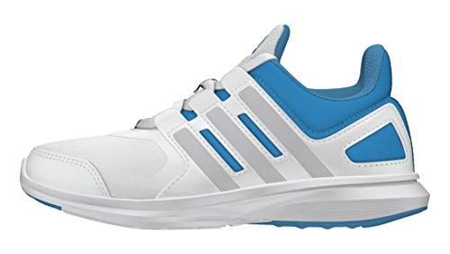 adidas Hyperfast 2.0 K, Zapatillas de Deporte Interior para Niños Blanco (Ftwbla / Plamet / Azuart)