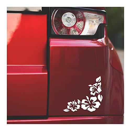 Underground Printing Corner Hibiscus Flowers - Hawaiian Nature Vinyl Decal Sticker   6