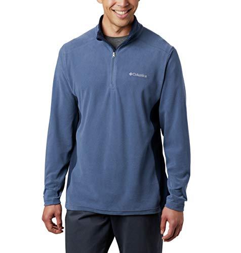 Columbia Men's Klamath Range II Half-Zip Pullover Fleece, Dark Mountain, Collegiate Navy, - Top L/s Half Zip