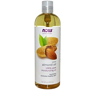 NOW Foods Sweet Almond Oil, Moisturizing Oil, 32 Ounce ,Now-7k by Now Foods