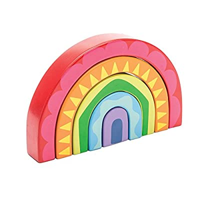 Le Toy Van Petilou Collection Wooden Rainbow Tunnel Set Premium Wooden Toys for Kids Ages 12 months & Up: Toys & Games