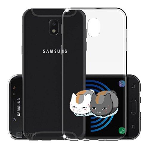 Funda para Samsung Galaxy J5 2017 SM-J530 (Sólo se aplica a la versión europea) , IJIA Transparente Arco Iris Unicornio TPU Silicona Suave Cover Tapa Caso Parachoques Carcasa Cubierta para Samsung Gal WM132