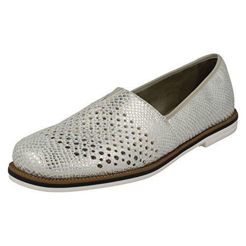 Rieker 45555 Women's Casual Slip On Shoes White