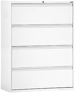 Sandusky Lee LF8F424-22 800 Series 4 Drawer Lateral File Cabinet, 19.25