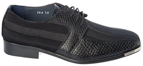 Parrazo Menns Sorte Oxfords-skoene Snøre På Derby Tuxedo Sko Svart
