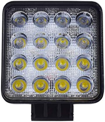48W LED DRL Arbeitslicht Wasserdichtes quadratisches Licht Super heller Scheinwerfer für Geländewagen LKW Motorrad