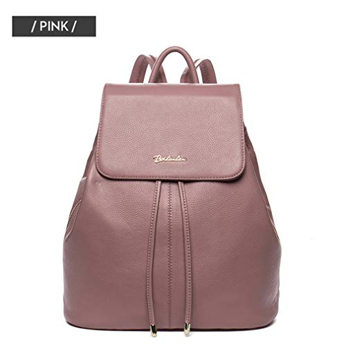Girls Bags Women Leather Travel Women Female Backpack Cow Backpack Pink Fashion Teenagers For Drawstring School X8B5qE