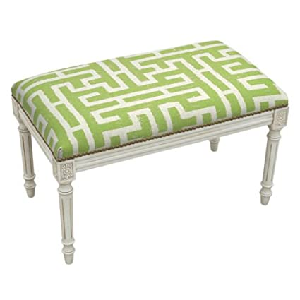Amazon Com Benches Brittney Park Lattice Design Upholstered Bench