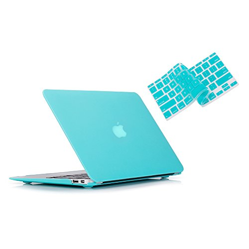 Ruban MacBook Air 13 Inch Case - Fits Previous Generations A1466 / A1369 (Will Not Fit 2018 MacBook Air 13 with Touch ID), Slim Snap On Hard Shell Protective Cover and Keyboard Cover,Turquoise