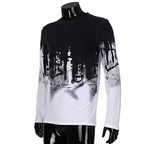 Top mesure coloré Modèle Col rond couleur Xxxl longues Xx Xxl manches Casual Blanc Zhrui Costume Shirt large Homme T 3d Sur Pullover Blouse Polo Costume à Taille v6x8wWtq7O