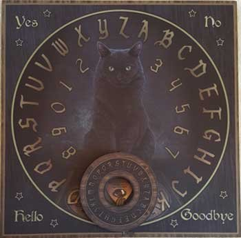 Party Games Accessories Halloween Séance Board Talking Spirit Board Black Cat Familiar by AzureGreen (Image #1)