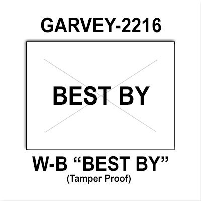 180,000 Garvey Compatible 2216 ''BEST BY'' White General Purpose Labels to fit the G-Series 22-66, G-Series 22-77, G-Series 22-88 Price Guns. Full Case + includes 20 ink rollers. by Infinity Labels
