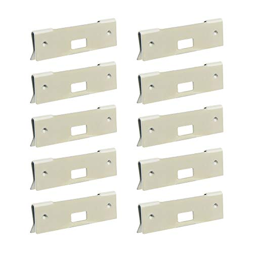xydstay Vertical Blind Repair Vane Savers, Curved Repair Clips, 10 Pack for Fixing Broken Vertical Window Blinds Slats