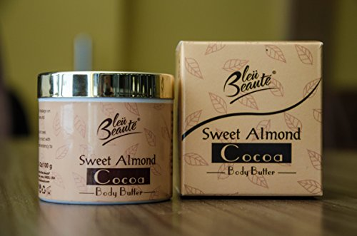 Sweet Almond and Cocoa Body Butter Cream - Moisturizing Skin Nourishing Skin Care cream for stretch marks and scars
