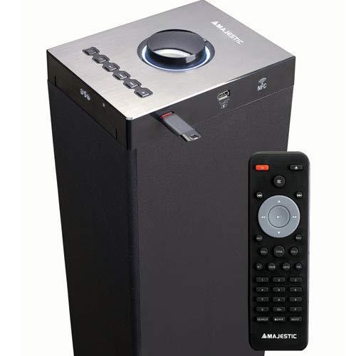 Altoparlanti a torre con Bluetooth NFC doppia USB Nero Majestic TS 92R CD BT USB AX Lettore CD//MP3 telecomando ingresso AUX-IN