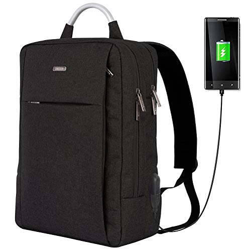 OSOCE Travel Laptop Backpack,Business Anti Theft Slim Durable Laptops Backpack with USB Charging Port,Water Resistant College School Computer Bag for Women & Men Fits 15.6 Inch Laptop and Notebook