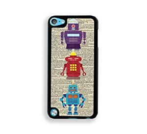 Vintage Dictionary Robots iPod Touch 5 Case - Fits ipod 5/5G