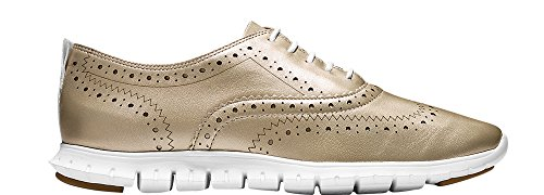 Gold Zerogrand Wingtip Women's 6 Oxford Haan Metallic Cole wq7Eaa