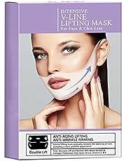 NIDONE 4PCS / Box dubbele kin Mask Perfect V Pull Anti-Wrinkle Aanscherping Mask V Line Pull 4D Masker dubbele kin Puff
