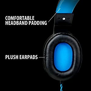 (REFURBISHED) ENHANCE GX-H2 Computer Gaming Headset with Noise Isolating Ear Pads , Adjustable Mic , and Volume Control with Mute Button League of Legends , PUBG and More PC Games