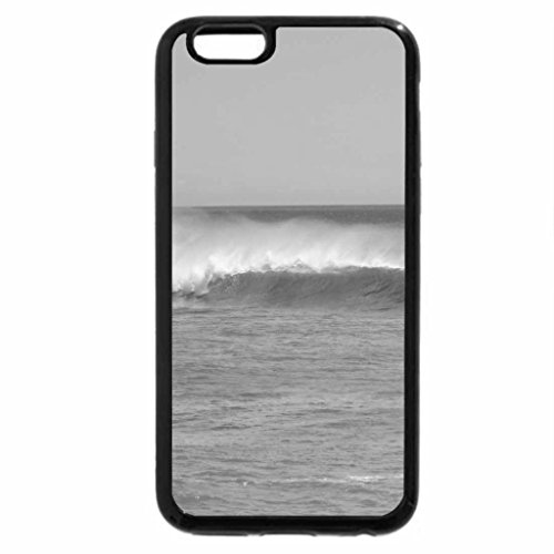 iPhone 6S Plus Case, iPhone 6 Plus Case (Black & White) - Racing Waves