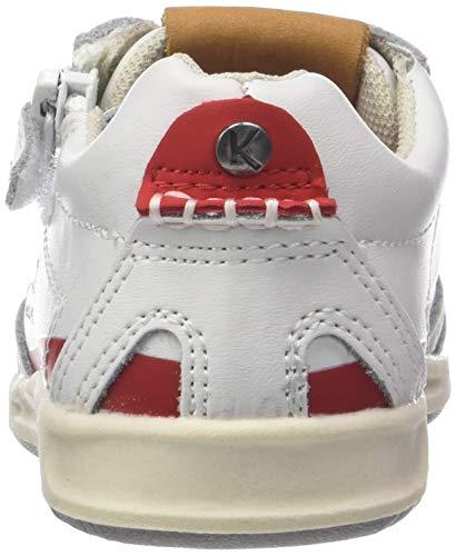 BB 18 Lea Blanc Blanc Baskets Kickers 33 Rouge Mixte bébé 5Sqwgw