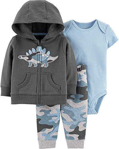 Carter's Baby Boys' Cardigan Sets (9 Months, Embroidered Dino) ()