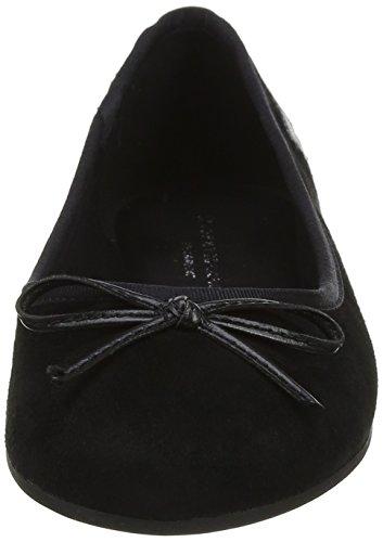 Black Flats 990 Women's Elevated Tommy Ballet Hilfiger Black Ballerina Suede Uwqx0ABa