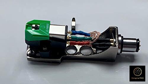 Titanium plated Headshell Audio Technica cartridge, Elliptical Stylus for Pioneer PLX-1000, PL-518, PL-530, PL-A35, PLX-500, PL-560, PL-200, PL-516, PL-255, PL-200X, XL-A700, PL-A45D, (Best Cartridge For Pioneer Plx 1000)