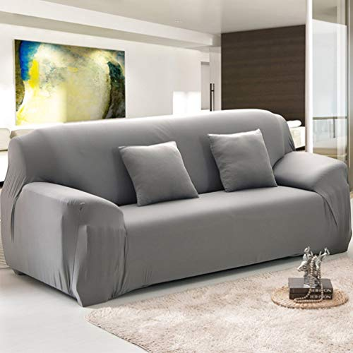 Fabric Slipcovered Loveseat - LVYING Soild Color Sofa Cover Stretch Sofa Slipcover Fabric Elastic Couch Cover Loveseat Tight All-inclusive Sofa Furniture Cover 1PC
