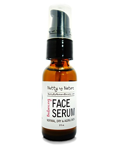 Nutty By Nature Balancing Face Serum - Normal, Dry and Aging Skin - 100% Natural by Nutty By Nature