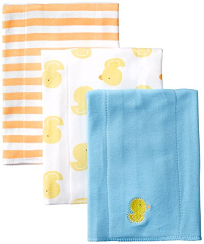 - Gerber Unisex-Baby Newborn 3 Pack Neutral Interlock Burp cloths, Multi, One Size