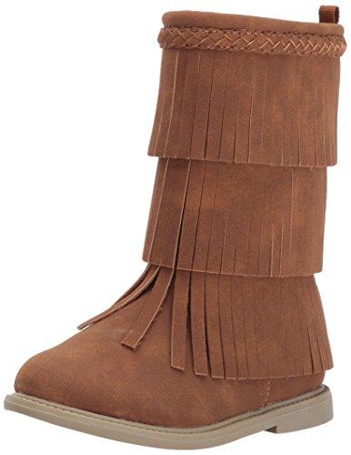Girl Fringe Boots (carter's Girls' Toka Fashion Boot, Brown, 6 M US Toddler)