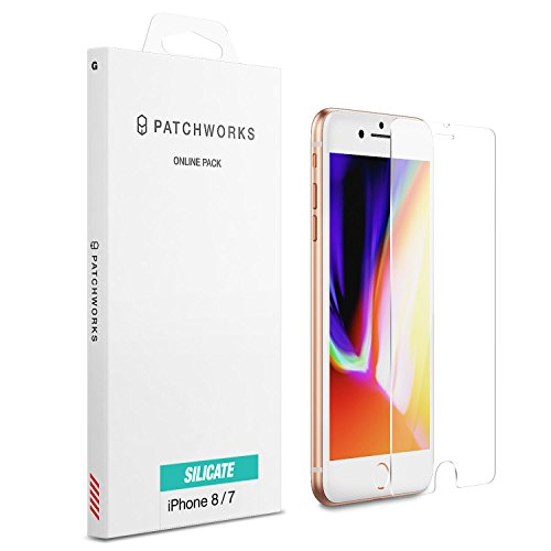 Patchwork Glass (iPhone 7 Screen Protector, Patchworks ITG Silicate Made in Japan 9H 0.4mm Maximum Strength Scratch Resistant Oleophobic Coated Tempered Glass for iPhone 6/6s/7/8)