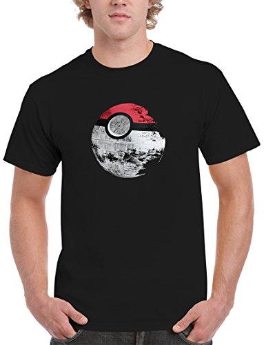 BBT Mens Pokemon Star Wars Death Star T-shirt Tee 2XL (Bbt Shirts)