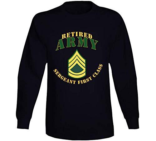 (XLARGE - Army - ARMY - SFC - Retired - L Sleeve - Black)