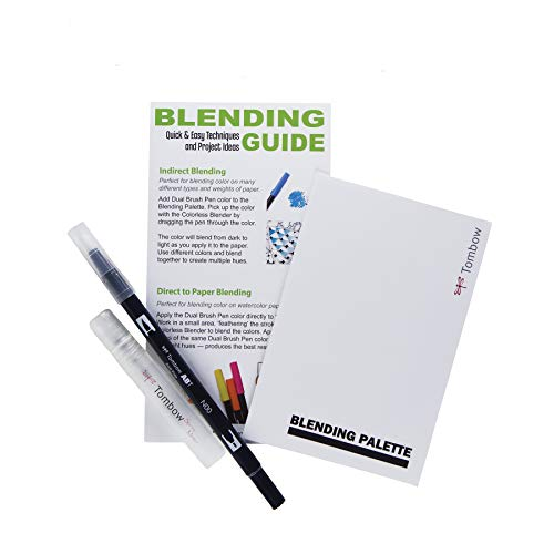 Large Product Image of Tombow 56180 Blending Kit. Includes Blending Palette, Colorless Blender, Spray Mister, and Blending Guide